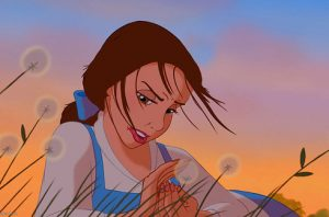 Belle's+hair+getting+all+up+in+her+lip+gloss