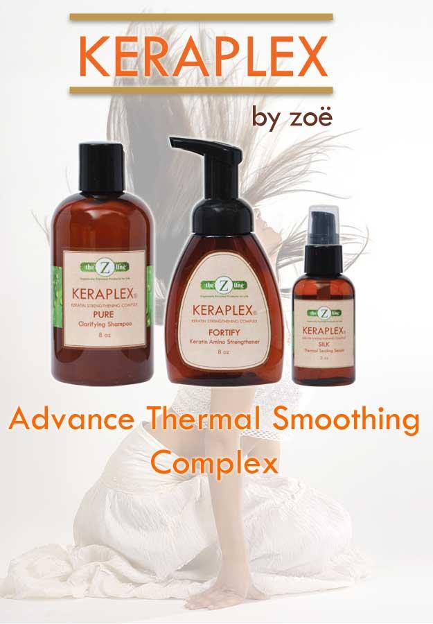 keraplex hair smoothing treatment packaging
