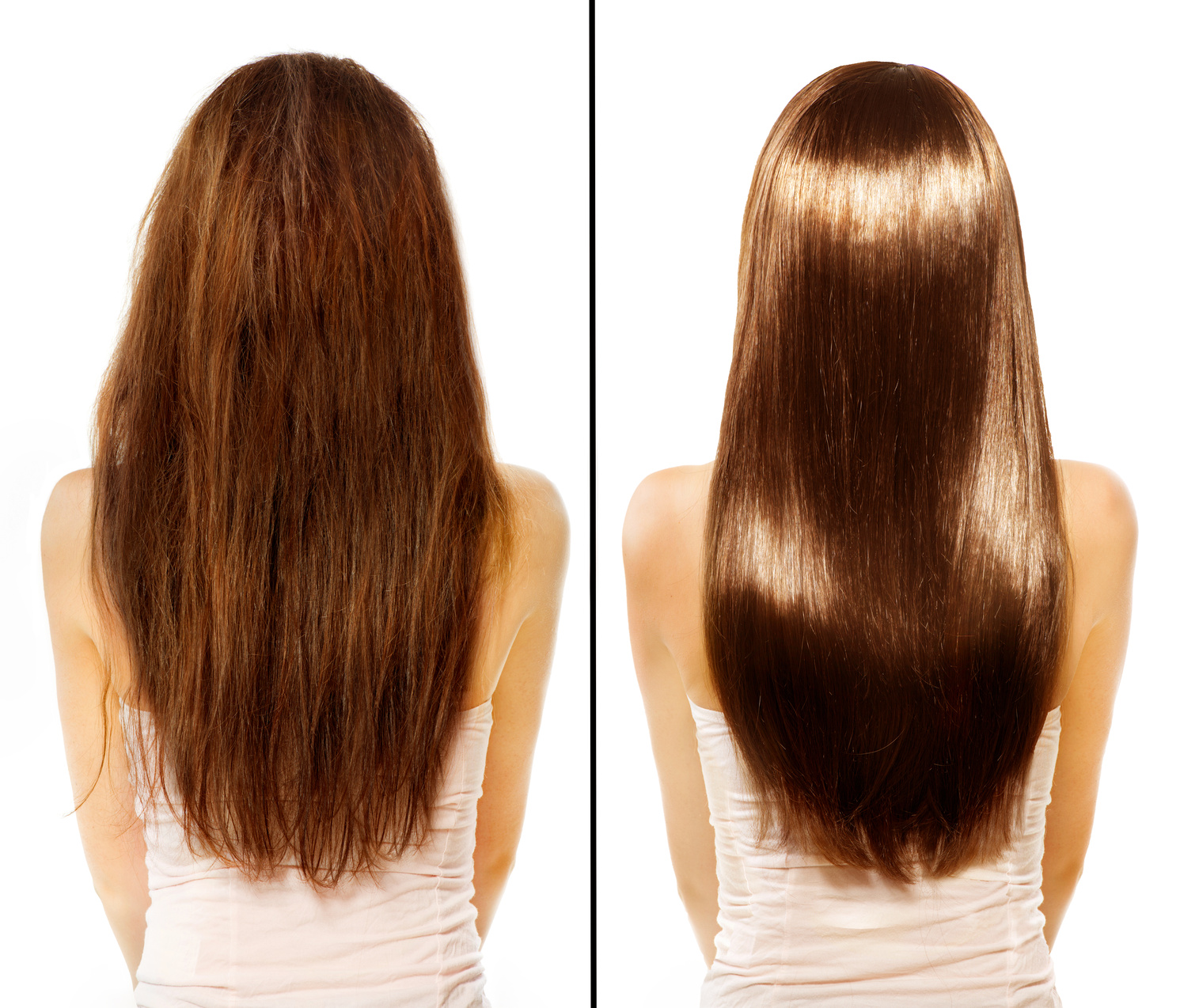 before and after keraswift keratin smoothing treatment