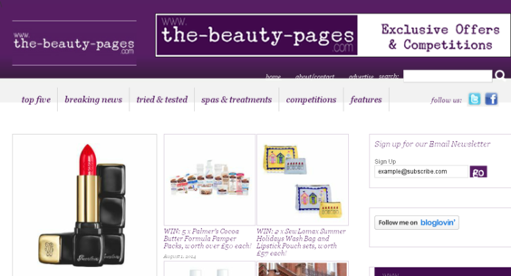 The beauty pages featured Zoltan